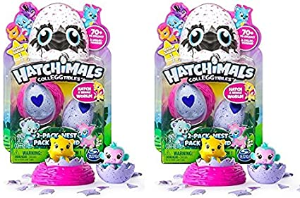 Styles /& Colors May Vary Nest Hatchimals CollEGGtibles Season 2-2-Pack