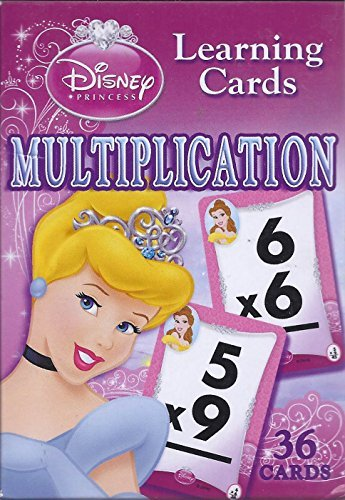 Disney Princess Multiplication Learning Cards