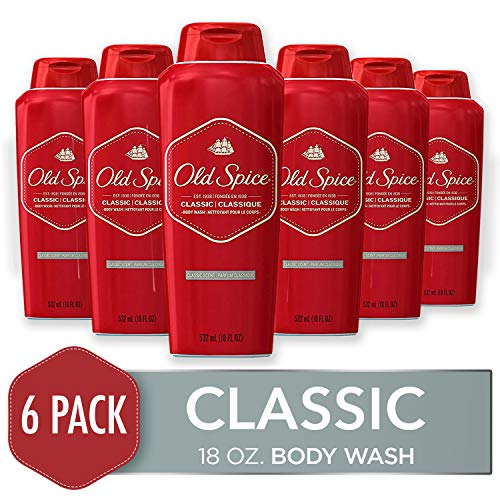 Old Spice Body Wash for Men, Classic Scent, 18 Fl Oz (Pack of 6)