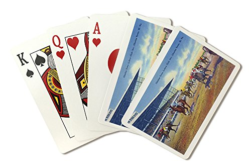 Charles Town, West Virginia - Jockey Club Horse Racing Scene (Playing Card Deck - 52 Card Poker Size with Jokers)