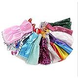 TrifyCore Doll Barbie Sling Shoulder Mini Dress Up Clothes 29cm / 11.5 10PCS / Set (Random)