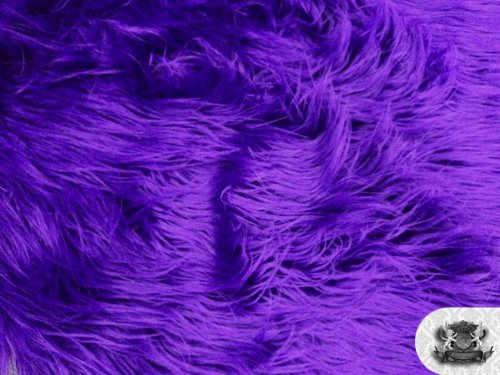 Faux/Fake Fur the Yard Mongolian, Purple