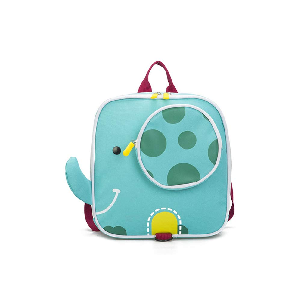 GKPLY Cartoon Backpack Cute 9.1 inch Mini Anti-Lost Bag Backpack Kindergarten Square Bag Baby Snack Bag Suitable for Kindergarten Children Baby,Green by GKPLY (Image #1)
