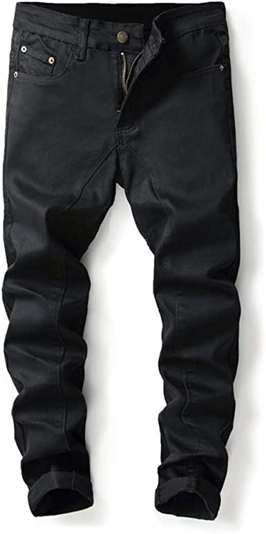 Fksesg Men S Jeans Personality Ripped Slim Fit Zipper Stretch Denim Trousers At Amazon Men S Clothing Store