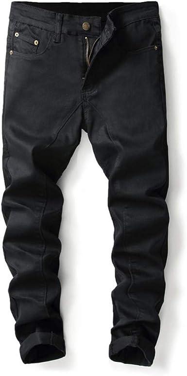 Zezkt Vaqueros Slim Para Hombre Moda Calle Negro Mezclilla Pantalones Deportivos Pantalon De Moto Moda Corte Ajustado Elastico Jeans Ocio Y Confort Vaqueros Straight Para Hombre Amazon Es Ropa Y Accesorios