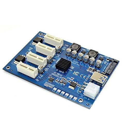 Cikuso M.2 NGFF PCI-E PCI Tarjeta de extensión Adaptador de Riser ...