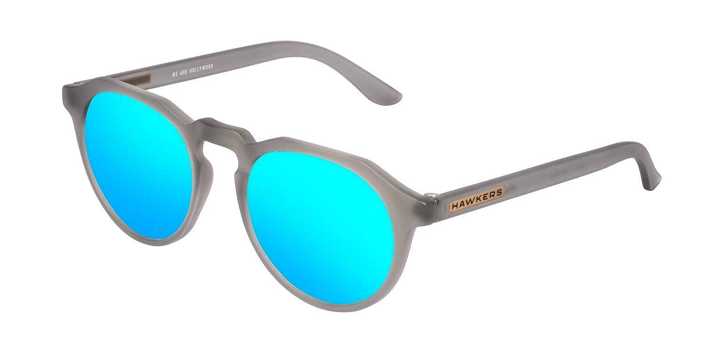 Hawkers Unisex Adults' Frozen Grey Clear Blue Warwick Sunglasses (Gris/Azul), 60 W18TR10