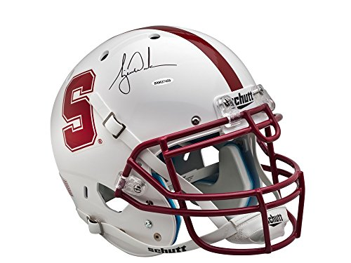 TIGER WOODS AUTOGRAPHED WHITE STANFORD AUTHENTIC HELMET ()