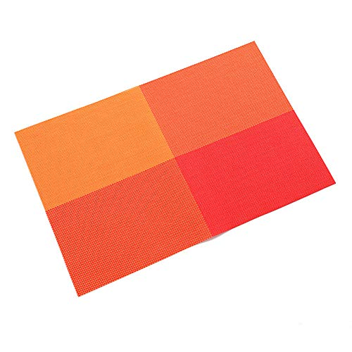 Maserfaliw Placemat Placemat Heat Resistant Dining Table Mat Bowl Pad Coaster Anti-Skid Decoration - Orange, It Can Be Used at Home, in The Office, and On A Trip.