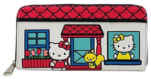 Loungefly Sanrio Hello Kitty House Zip (Hello Kitty Checkbook Wallet)