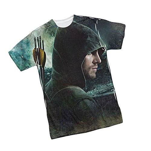 This City -- CW's Arrow TV Show Front/Back Print Sports Fabric T-Shirt, Medium (Dc Arrow Shirt)