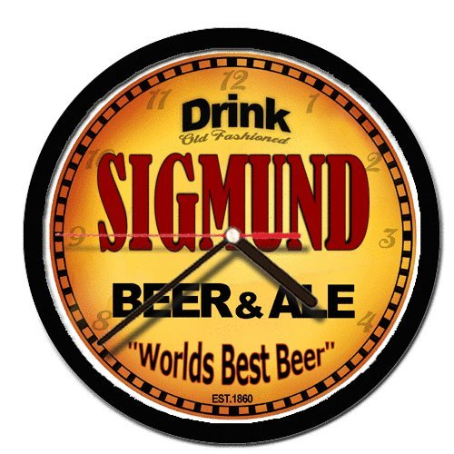 amazon com sigmund beer and ale cerveza wall clock home kitchen