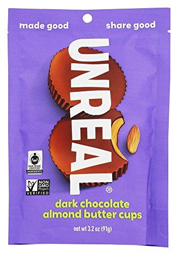 UNREAL Gluten-Free, Vegan, Non-GMO Dark Chocolate Almond Butter Cups - 1 Bag (Selling Bars Candy)