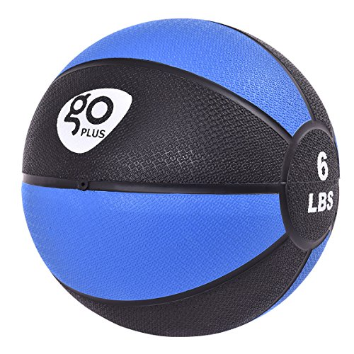 Goplus Fitness Weighted Medicine Ball for Wall Balance Training Muscle Build Workout, 6LBS