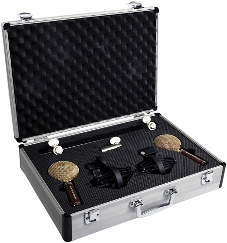 Cascade Microphones FAT HEAD Blumlein, Stereo Pair, Brown/Gold