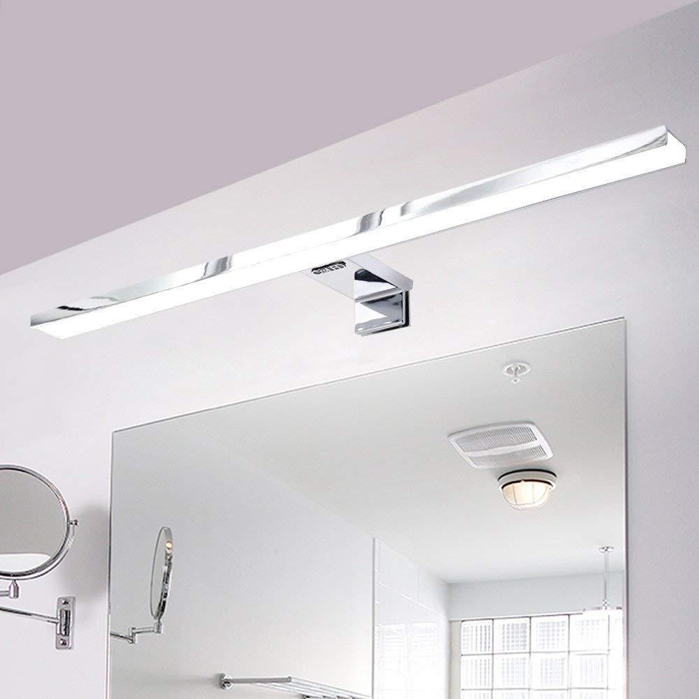Lampada Bagno Specchio.Dettagli Su Lampada Bagno Specchio Applique Lampda Con Luce Uniforme Led 8w Sottile