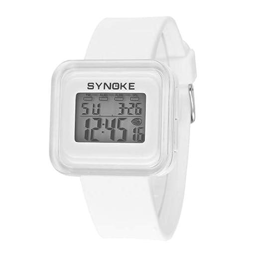 Cebbay Liquidación Imported Silicone LED Light Digital Sport Reloj de Pulsera para muñeca Kid Unisex (Blanco): Amazon.es: Relojes