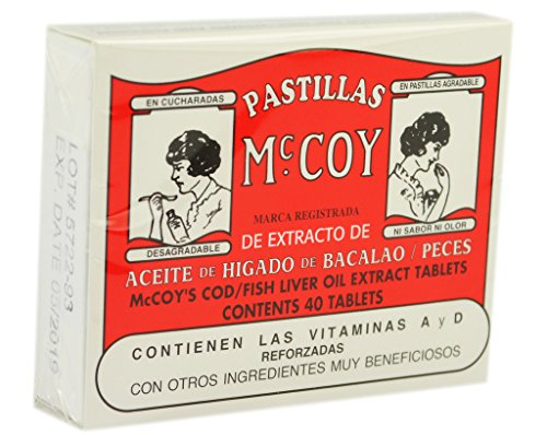 Mccoy Cod / Fish Liver Oil Extract Tablets 40