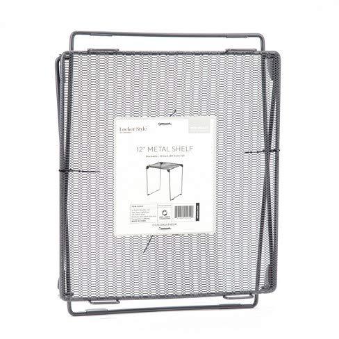 U Brand Mesh Metal Locker Shelf Gray 12'' - Locker Style by Locker Style