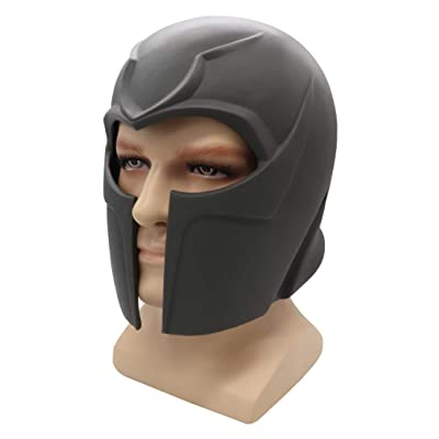 Hongzhi Magneto Helmet Toy Cosplay Deluxe Resin Full Head Mask Collectable Halloween (Black): Clothing