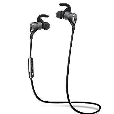 Auriculares Estéreo Bluetooth, DINOWIN Bluetooth 4.1 Deportes Auriculares Inalámbricos Auriculares con Magnético / Micrófono Para