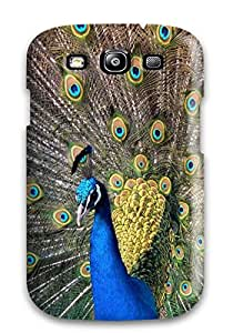 VBpFJBA578jUYVp Beautiful Peacock Blue Feathers Big Tail Animal Bird Fashion Tpu S3 Case Cover For Galaxy