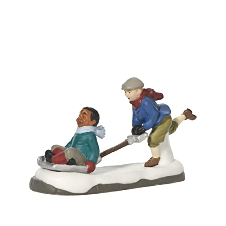Department 56 Christmas in The City Village Shoveling Fun Accessory Figurine