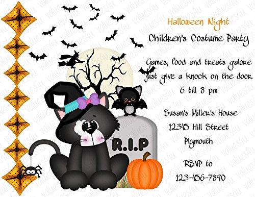 Personalized Halloween Invitation (halloween129) (sold in packs of (Personalized Halloween Invitations)