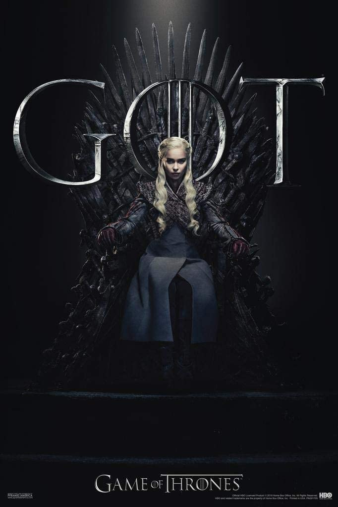 Pyramid America Game of Thrones Daenerys Targaryen Iron Throne Season 8 Cool Wall Decor Art Print Poster 24x36