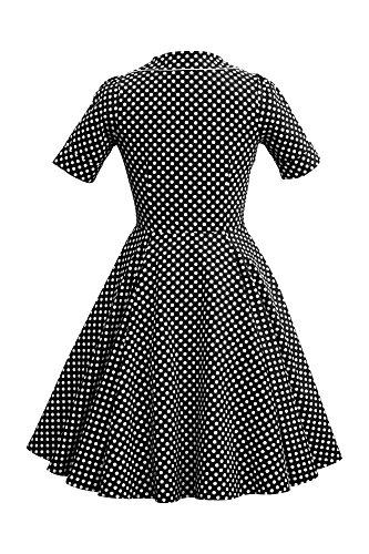 Vestido Vintage Negro 'Sabrina' de 50 BlackButterfly Años Lunares 5pwTqaaSC