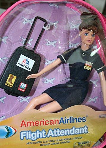 Flight Attendant Doll BRUNETTE American Airlines 11