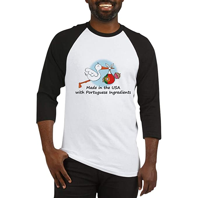 537bb671869 Amazon.com  CafePress Stork Baby Portugal USA Baseball Baseball Shirt   Clothing