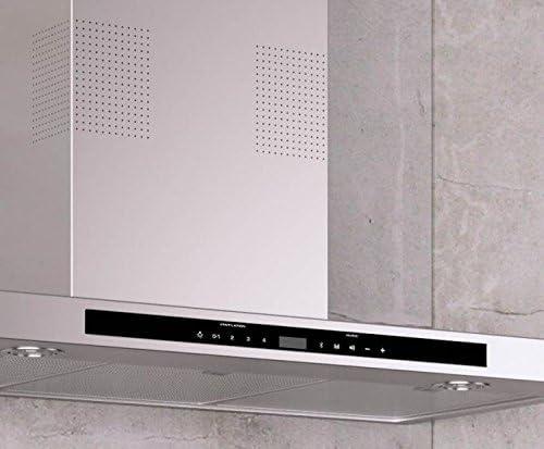 Campana de pared vertical de alta calidad * EEK A * con radio digital, altavoces inalámbricos con Bluetooth y manos libres, GALVAMET I-HOOD 90/A/90 cm/LED/INOX / 100% fabricado en Italia: Amazon.es: Grandes