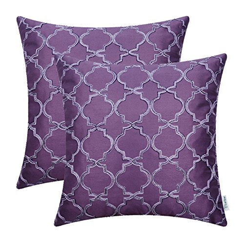 CaliTime Silk Throw Pillow Covers Cases for Sofa Couch Home