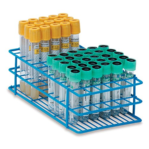 13mm Tube Rack for 3mL, 5mL, and 7mL Test Tubes Small Holds 72 Tubes 8''L x 4''W x 2.5''H by CeilBlue
