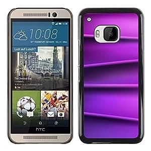 Be Good Phone Accessory // Dura Cáscara cubierta Protectora Caso Carcasa Funda de Protección para HTC One M9 // Lines Silk Smooth Pattern