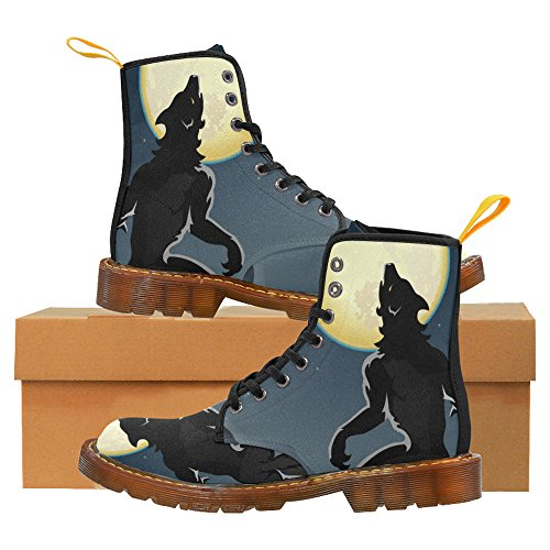 LEINTEREST Werewolf Howling Martin Boots Fashion Shoes For Men xrK9ex9c