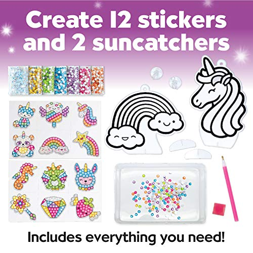 Creativity for Kids Big Gem Diamond Painting Kit - Create Your Own Magical Stickers and Suncatchers - Diamond Art for Kids