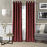 Elrene Home Fashions 026865901016 Blackout Energy Efficient Room Darkening Grommet Velvet Window Curtain