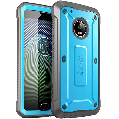 Moto G5 Plus Case, SUPCASE Full-Body Rugged Holster Case with Built-in Screen Protector for Motorola Moto G5 Plus 2017 Release, Unicorn Beetle PRO Series - Retail Package (Blue/Black)