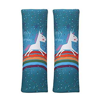 JBBERTH Auto Car Seat Belt Covers Shoulder Pads 2Pcs One Pair (unicorn)