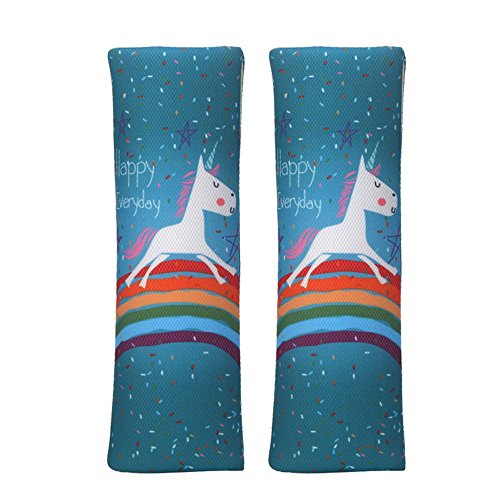 JBBERTH Auto Car Seat Belt Covers Shoulder Pads 2Pcs One Pair (unicorn) Car Seat Belt Cover Pad