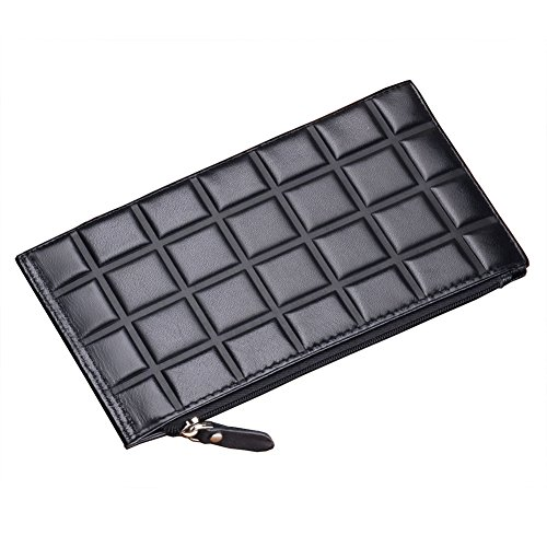 Teemzone Womens Candy Color Leather Huge Capacity Phone Holder Case Cash Holder Clutch Wallet Case