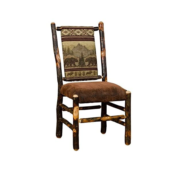 Furniture Barn USA Hickory Tressle Table Dining Set with 8 Fabric Back Dining Chairs - R. Bradley Fabric