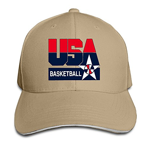 Price comparison product image Cool 2016 Olympic USA Basketball Logo Snapbacks Natural Sandwich Peaked Cap