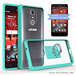 ZTE Grand X4 / Z956 Clear Case With HD Screen Protector+Phone Stand,Ymhxcy [Air Hybrid] Ultra Slim Shockproof Bumper Cover For ZTE Grand X4 / Z956 CB2-Mint