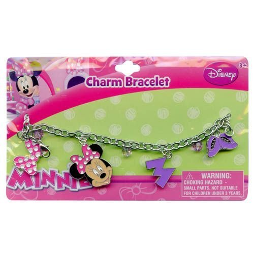 Girls Minnie Mouse Charm Bracelet Girls Dress Up ()