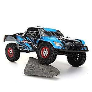 RC Short Course Trucks Fighter-1 4WD 1/12 Scale 2.4G Buggy High Speed Off-road Remote Control Truck 35Km/h-Blue