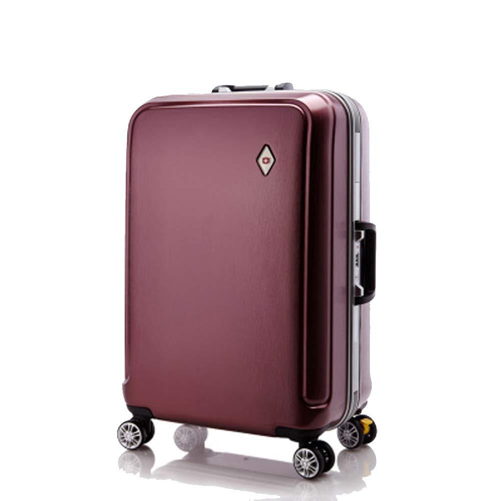 アルミフレームトロリーケース、ピュアPCスーツケース、ユニバーサルホイールスーツケース、搭乗バッグ、 B07QTQ2R29 red Small