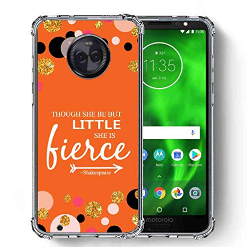 for Motorola Moto G6 Case, Moto G (6th Generation) Case, SuperbBeast Ultra Slim Thin Protective Case w/Reinforced Corners Vector Floral Flowers Polka Dots [Glitter Pattern]